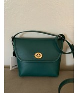 NWT Coach the originals Turnlock Leather Crossbody Bag Emerald Green/Brass - $250.00