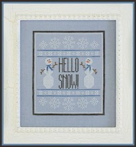 Hello Snow christmas winter cross stitch chart Country Cottage Needleworks - $7.20