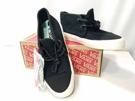VANS WOMEN'S RHEA SF SQUARE PERF BLACK MINT GREEN SIZE US 5 VN00019RIUZ ... - $19.59