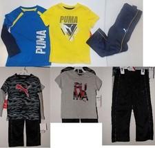 Puma Boys 3 Piece Outfit Long Sleeve Short Sleeve Pants Size 4 NWT - $24.69