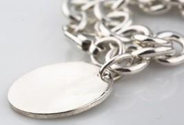 Tiffany & Co.Argent 925 Vierge Rond Étiquette Bracelet à Breloque 19.1cm - $178.20