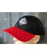 "Bulldog Stitched on 7 5/8""-7 7/8"" Red and Black Baseball cap with Stitc... - $5.99"