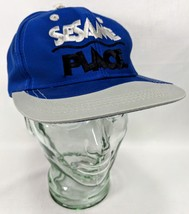 Sesame Place Blue Ball Cap Truck Hat Snapback  Embroidered - $18.55