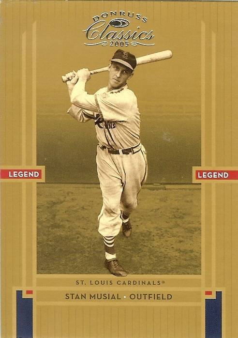 2005 donruss stan musial st louis cardinals serial 369/1000
