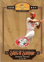 2005 donruss george foster cincinnati reds serial 4/1000 - $2.50