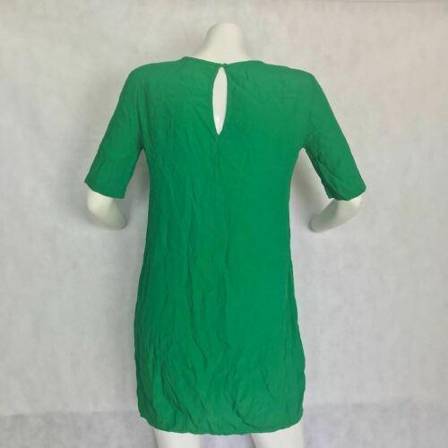 BCBG MaxAzria Dress Shift green cutouts keyhole  Casual Career Women Sz XXS
