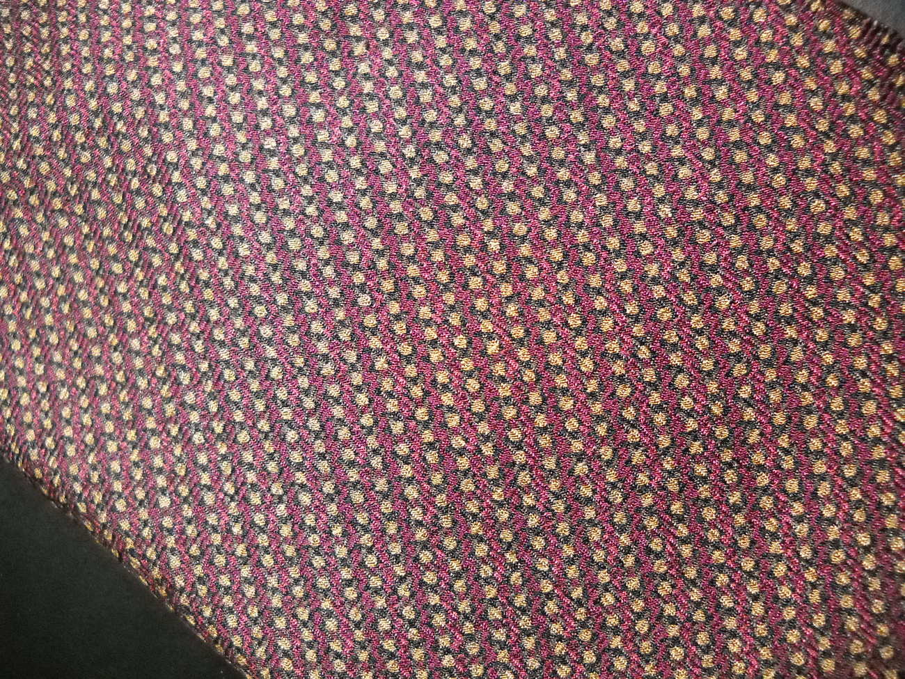 Hart Schaffner Marx Neck Tie Silk Browns Golds and Reds Tie Hand Made in Italy