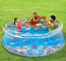 Play Day 8ft 3D Transparent Quick Set® Pool with 2 3D Goggles - Ready to Ship image 1