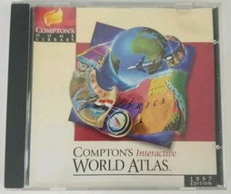 Comptons Interactive World Atlas PC CD ROM 1997 Edition Software  - $7.69