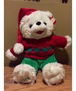 DanDee CHRISTMAS Snowflake TEDDY BEAR 2018 Walmart Bear White Boy Red Ou... - $28.71