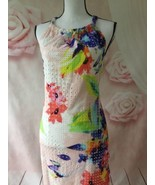 TRINA TURK NWT JUJU DRESS FLORAL HALTER ALL OVER EMBROIDERED SIZE M - $85.00