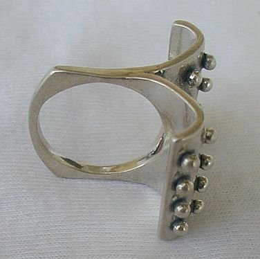 2 parts silver ring