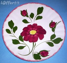 """BLUE RIDGE SOUTHERN POTTERY-- RED NOCTURNE DINNER PLATE  10 1/2"""" - $27.45"""