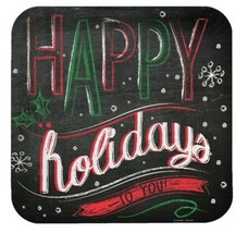 "Chalk Messages ""Happy Holidays to You"" 8 Ct 9"" Dinner Plates Party - $3.99"