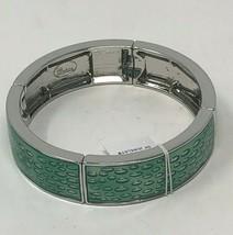 Lia Sophia Silver Green Water Droplets Stretch Bracelet Quench - $14.25