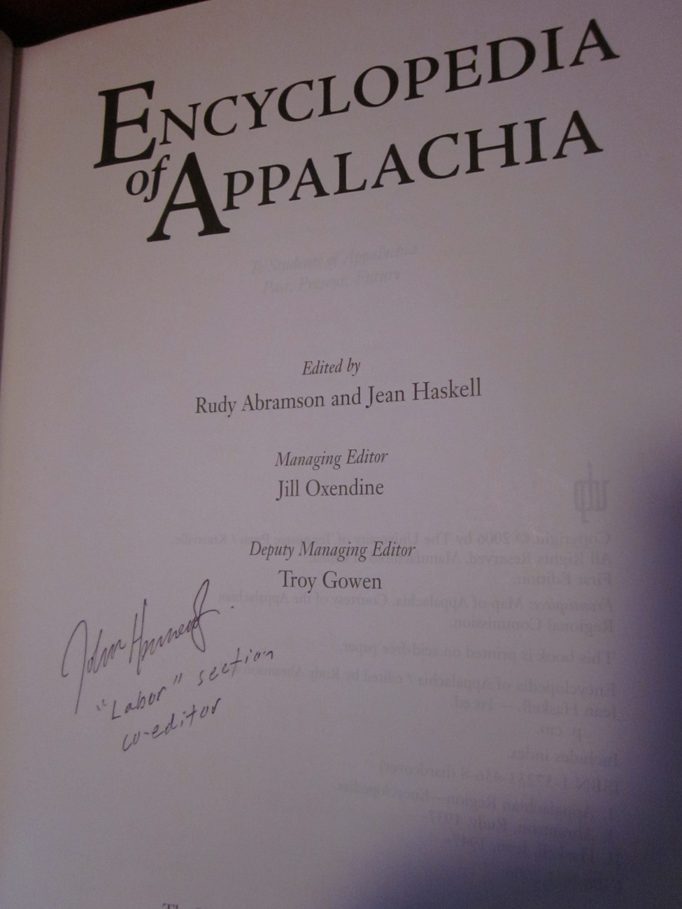 Encyclopedia of Appalachia by Rudy Abramson and Jean Haskell - Exhaustive