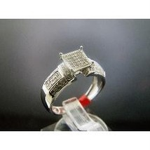Women 925 Silver .25CT Diamond Engagement Ring Size 6.5 - $149.84