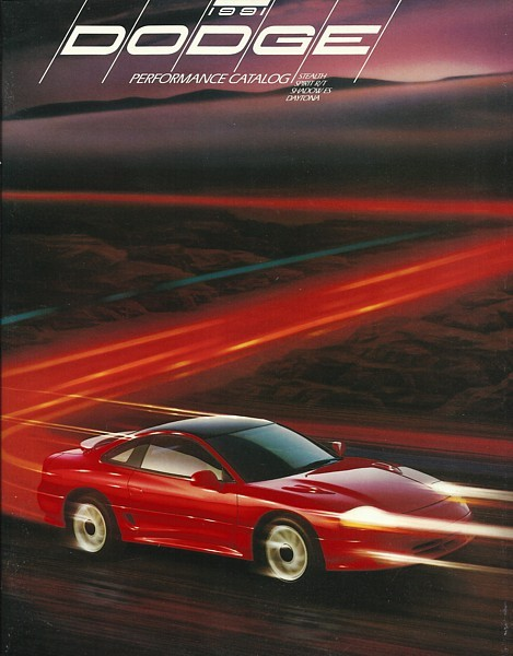 Primary image for 1991 Dodge STEALTH DAYTONA SHADOW brochure catalog US 91