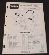 Toro S 140 Snowthrower Parts Catalog Serial 9000001 and Up  Model 38100 ... - $12.99