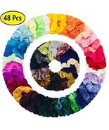 48 Pcs Scrunchies for Hair, Girls Elastics Velvet Hair Ties Scrunchy Hai... - $13.79