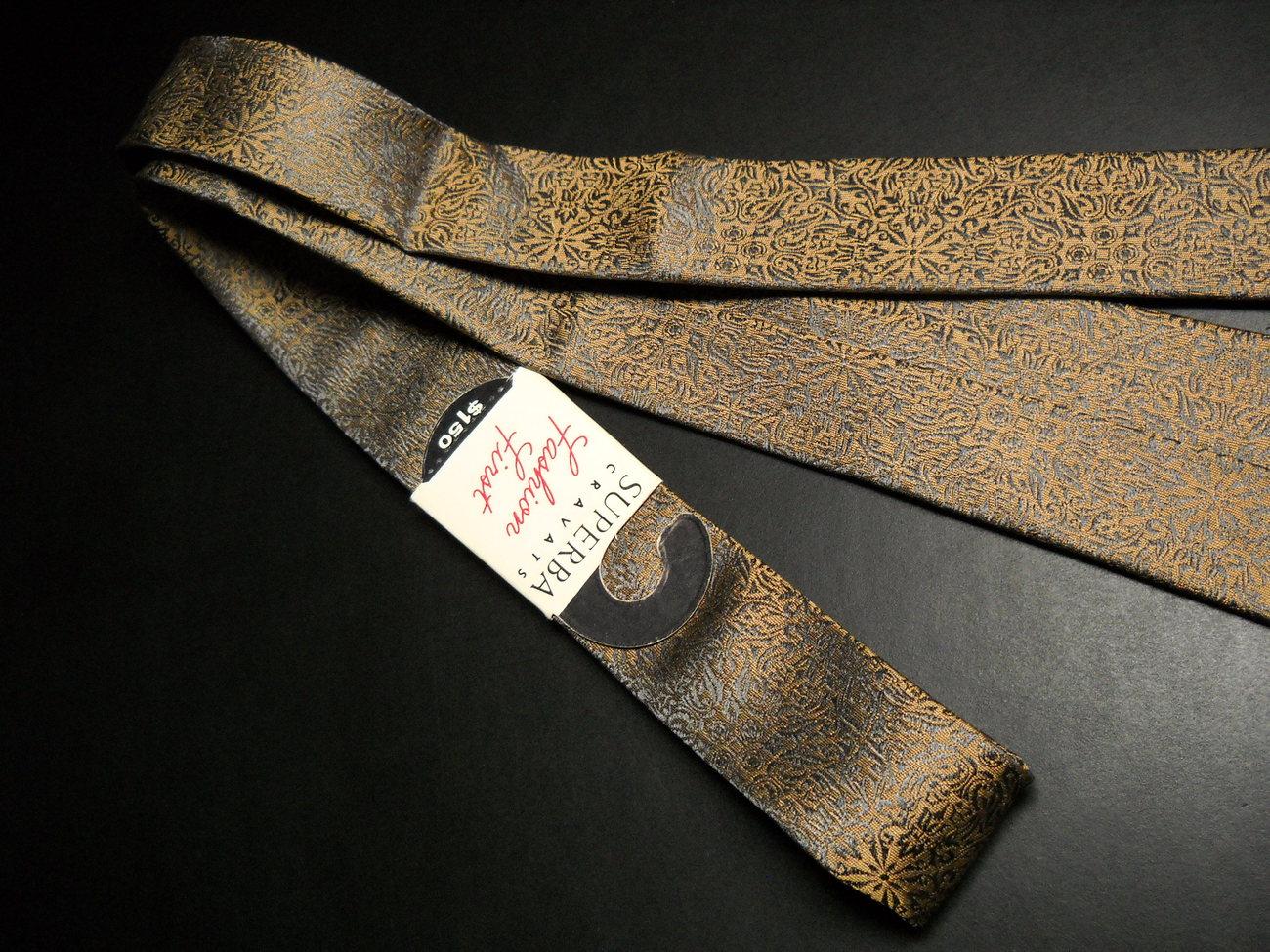 Superba Sleeved Neck Tie The Harvard Canton Vintage Skinny Browns Slight Sheen