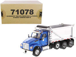 Kenworth T880S SFFA Tandem Axle with Pusher Axle OX Stampede Dump Truck Blue  - $100.57