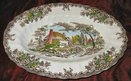 Myott Staffordshire Ware The Brook Oval Plate England - $28.50
