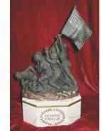 Iwo Jima Marine Semper Fidelis Decanter Flag Statue - $225.00