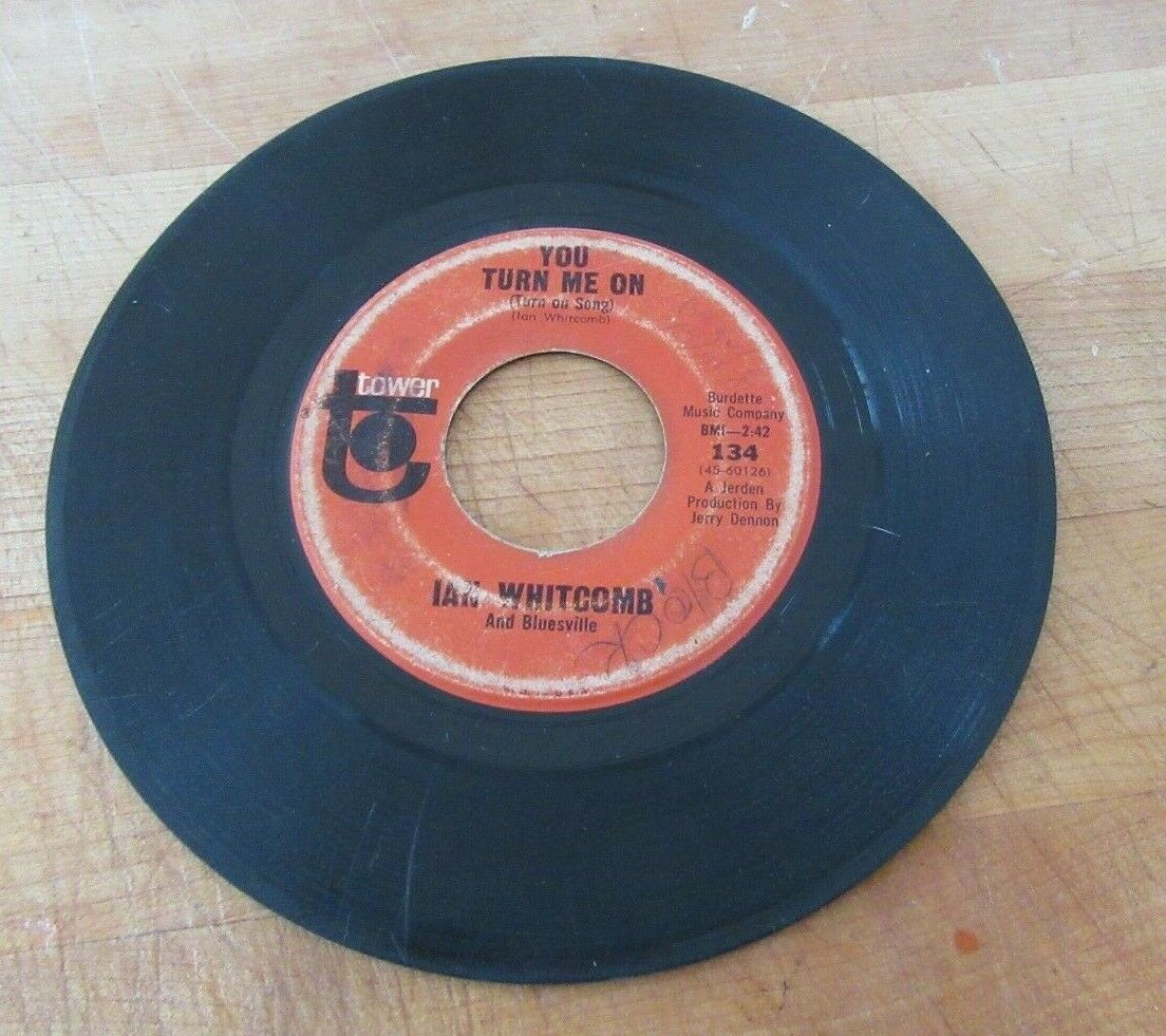 """Ian Whitcomb 45 RPM Vinyl Record 7"""" Poor But Honest & You Turn Me On"""