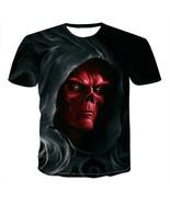 HYDRA Red Skull 3D Digital Print T-Shirt Summer Short Sleeve Unisex Casual Tee - $11.99