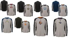 Boy's 8-18 NFL Covert Long Sleeve Dri Tek Tee Shirt Licensed NEW