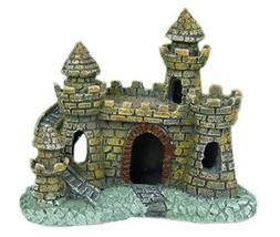 Resin Ancient Castle Aquarium Ornament, 11x6.5x10cm - €15,42 EUR