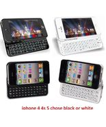wireless bluetooth keyboard case for iphone 4 4th 4G 4S 5TH GEN 5 5G BLA... - $29.99