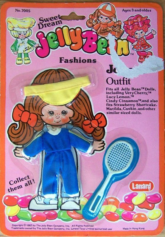 "1982 Lanyard 5""JELLY BEAN JOGGING  DOLL FASHION MIP"