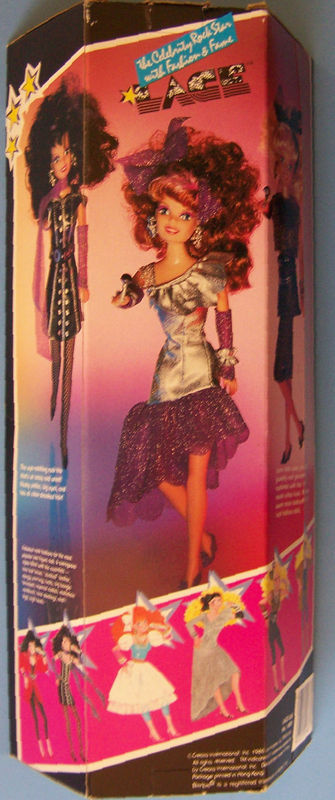 1986 Creata Black Hair LACE CELEBRITY ROCK STAR  DOLL NRFB Glittery Glamorous