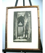 VINTAGE PRINT SAMUEL A.E. HOWARTH THE FIVE SISTERS YORK CATHEDRAL ENGLAN... - $38.56