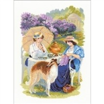 RIOLIS Counted Cross Stitch Kit, The Russian Country Estate, Kit #R1141 - $26.03