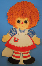 "23"" VINTAGE RAGGEDY ANN & ANDY STANDUP CARDBOARD CUTOUT - $11.39"