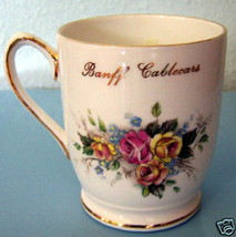 BANFF CABLECARS ROYAL CAUFIELD BONE CHINA CUP CANADA - $5.78