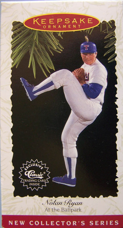 NOLAN RYAN AT THE THE BALLPARK  HALLMARK ORNAMENT NRFB