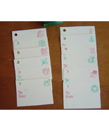 Handcrafted Christmas Tag Cards, set of 12 - $3.00