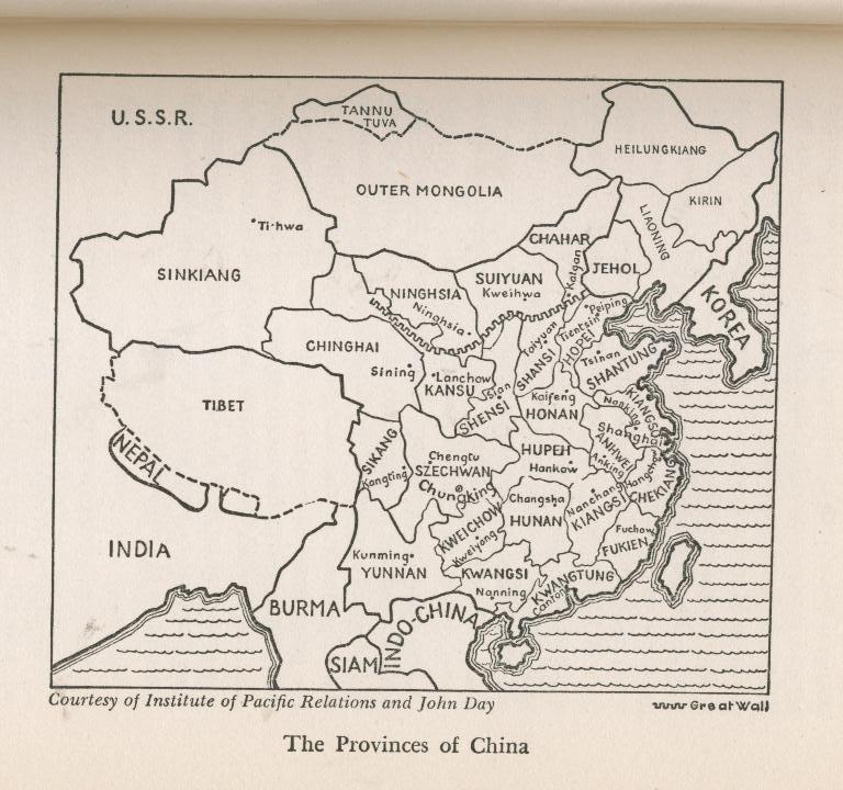 Lattimore--MAKING OF MODERN CHINA--1944, hb/dj, 1st--OOP