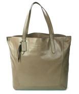 Coach Flint Brown Leather Signature Shopper Tote Bag Medium Handbag - $338.93