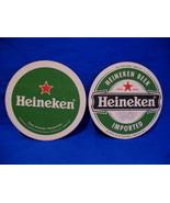 Green Heineken Beer Coasters Set of 2 Souvenir - $2.99