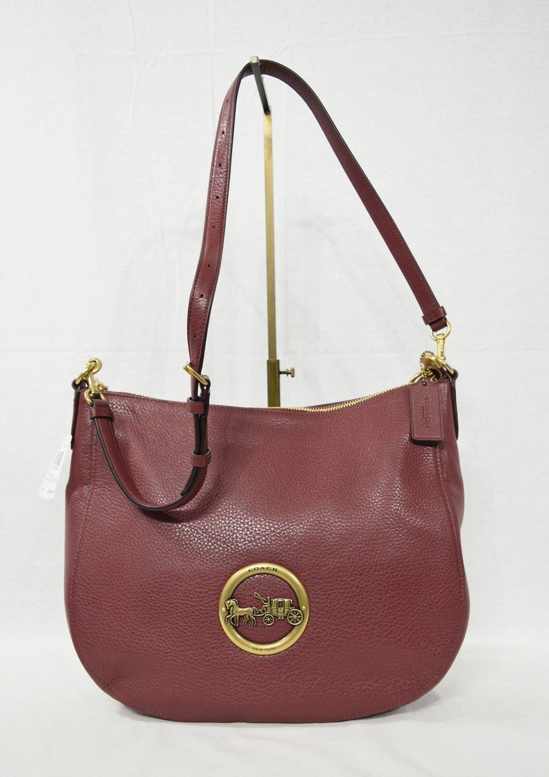 c0e73662e5c3 NWT! Coach F31369 Crimson Pebbled Leather and 50 similar items