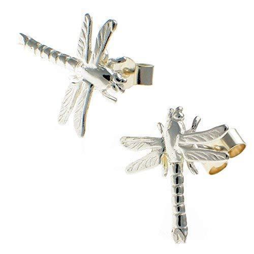 Sterling 925 Silver Dragonfly Stud Earrings. Handmade by Welded Bliss WBC1594 - $23.52