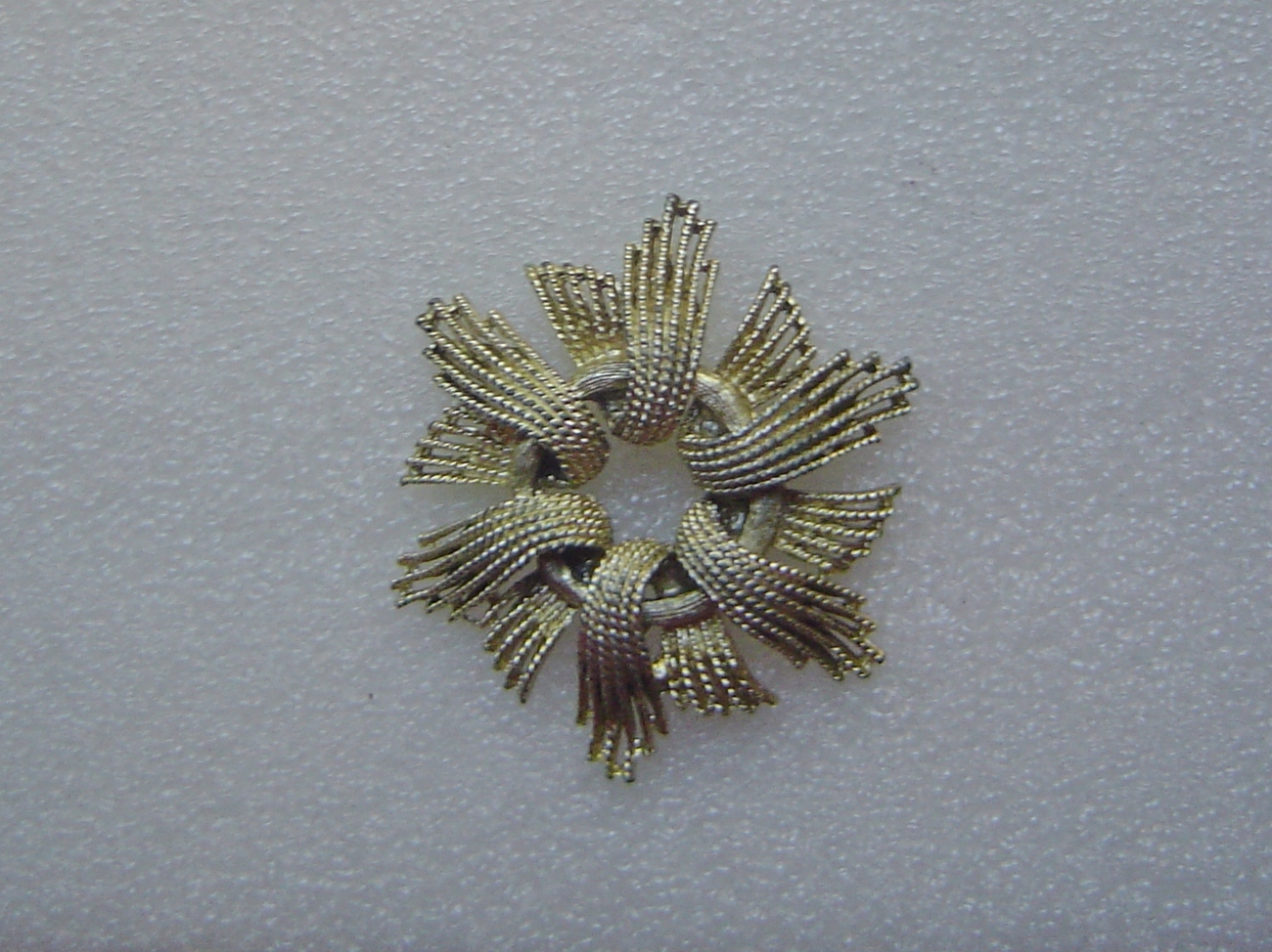 Large Coro Gold Starburst Brooch or Pin Signed