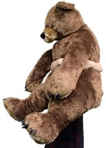 Giant Brown Teddy Bear Luxurious Soft Plush Animal Huge 3 Feet Tall, 3 F... - $97.11
