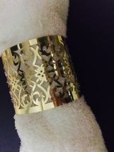 50pieces Laser cut Metallic Paper Gold Color Wedding Decoration Napkin Ring - $17.00