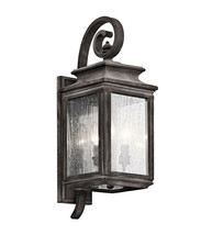 Kichler 49502WZC Wiscombe Park Outdoor Wall Sconces 8in Weathered Zinc - $359.99